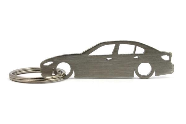 Porta Chaves em inox com silhueta com BMW F30 limousine