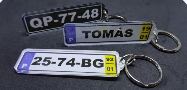 Porta Chaves - Matrícula Portuguesa com ano e mês