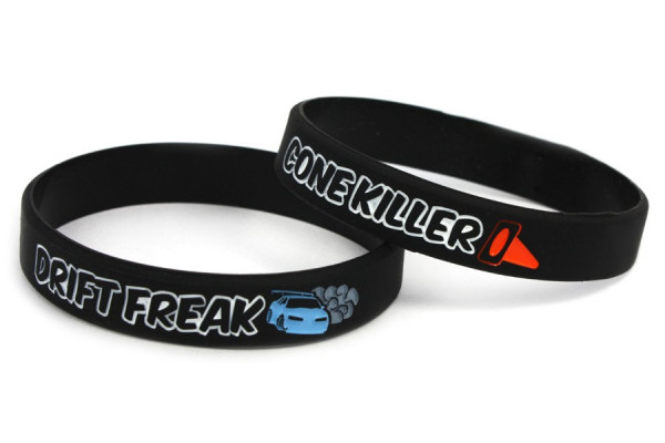 Pulseira- Drift Freak / Cone Killer  Preto