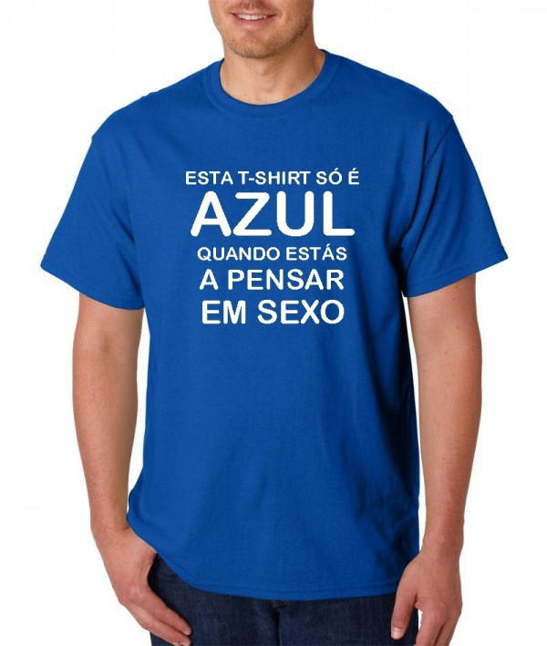 Imagens T-shirt  - Azul
