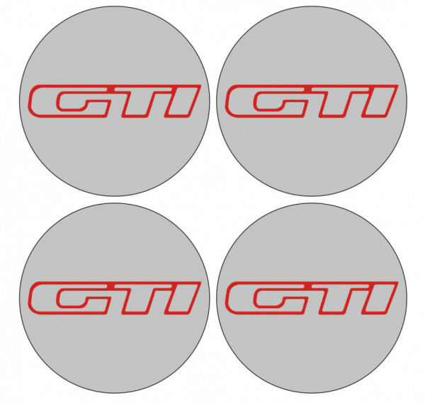 4 Autocolantes Para Centros de Jantes para GTI
