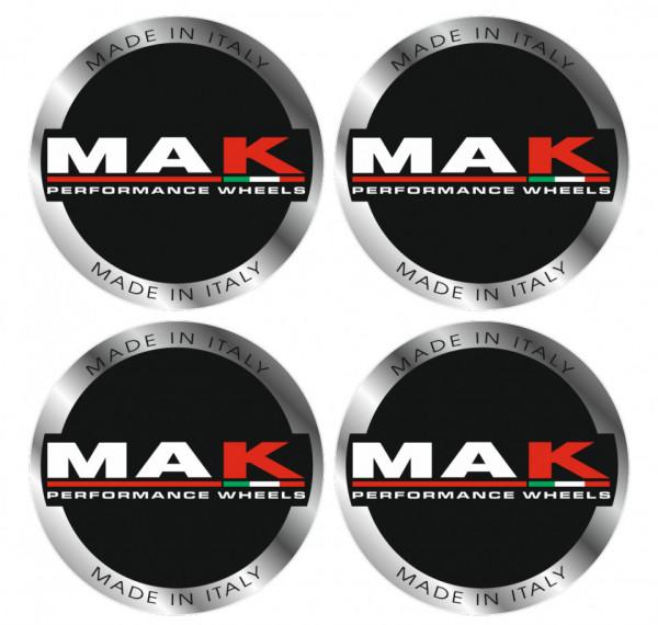 4 Autocolantes Para Centros de Jantes para Mak