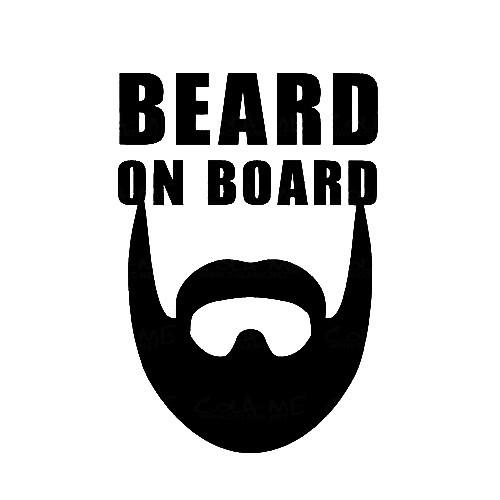 Imagens Autocolante - Beard On Board