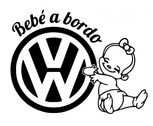 Imagens Autocolante - Bebé a bordo para VW