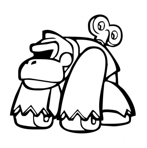 Autocolante com Macaco