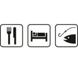 Imagens Autocolante - Comer Dormir Pescar