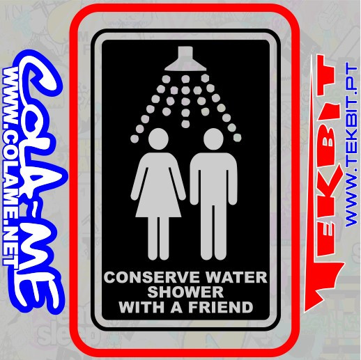Imagens Autocolante - Conserve Water!