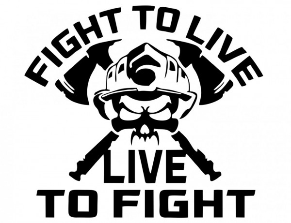 Imagens Autocolante  - Fight to live live to fight