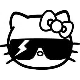 Autocolante - Hello Kitty Lady Gaga