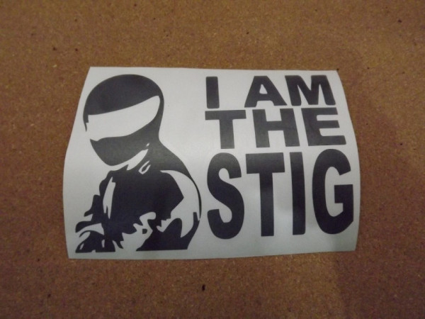 Autocolante - I am the Stig