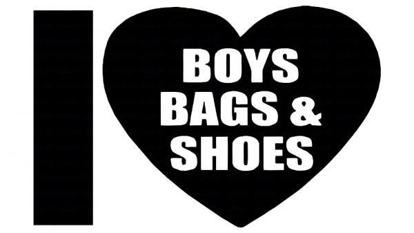 Imagens Autocolante - I love boys bags and shoes