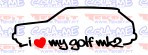 Imagens Autocolante - I Love my Golf mk2