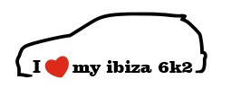 Autocolante - I love my Ibiza 6k2