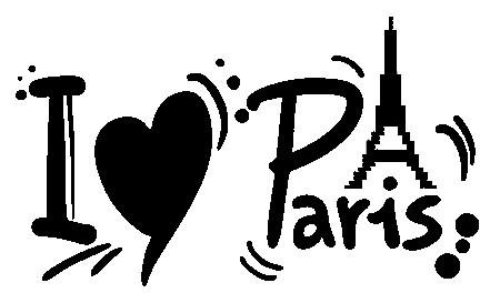 Autocolante - I love Paris