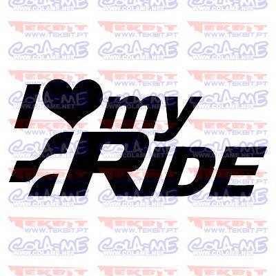 Autocolante - I love Ride