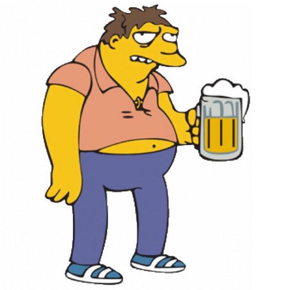 Imagens Autocolante Impresso - Barney-Simpsons
