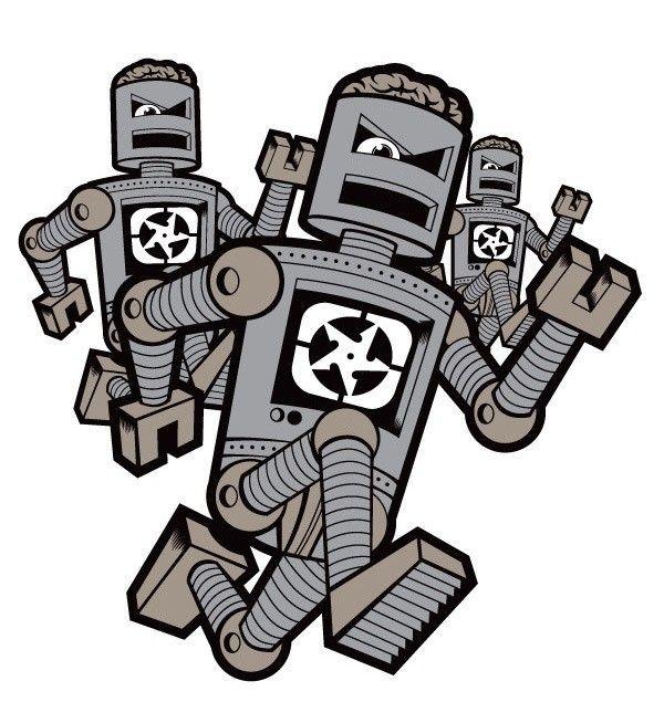 Imagens Autocolante Impresso - Robots