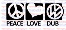 Imagens Autocolante - Peace Love DUB