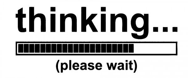 Imagens Autocolante - Thinking Please Whith