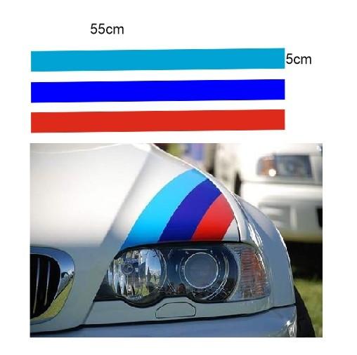 Imagens Autocolantes - Faixas BMW (azul claro, azul escuro, vermelho) 55x5cm