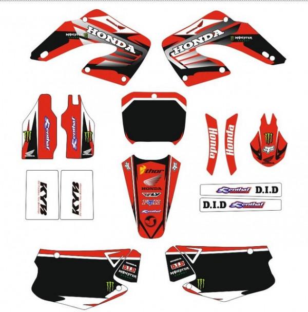 Kit Autocolantes Para Honda CR 125 /250 00-01
