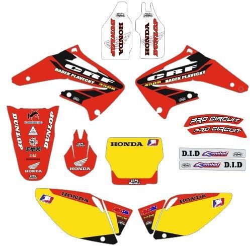Kit Autocolantes Para Honda CRF 450R 02 - 04