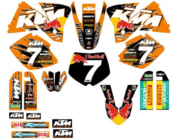 Imagens Kit Autocolantes Para  KTM EXC / XC 98-01