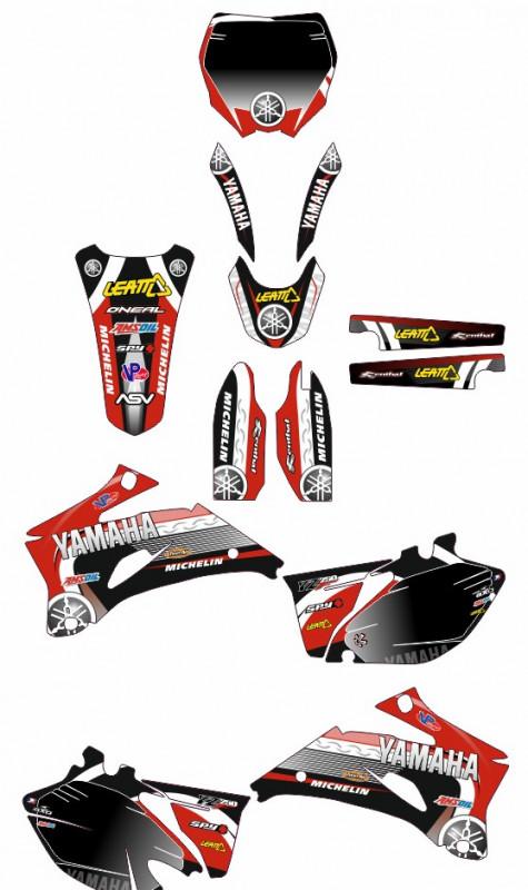 Imagens Kit Autocolantes Para Moto - Yamaha YZF 250 / 450 06-09