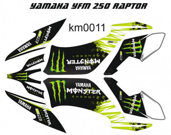 Kit Autocolantes Para Yamaha YFM 250 Raptor