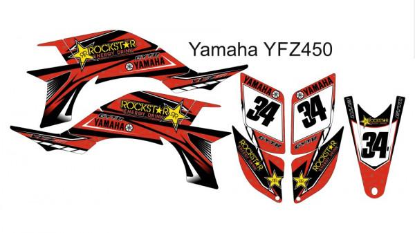 Kit Autocolantes Para Yamaha YFZ 450 03-08