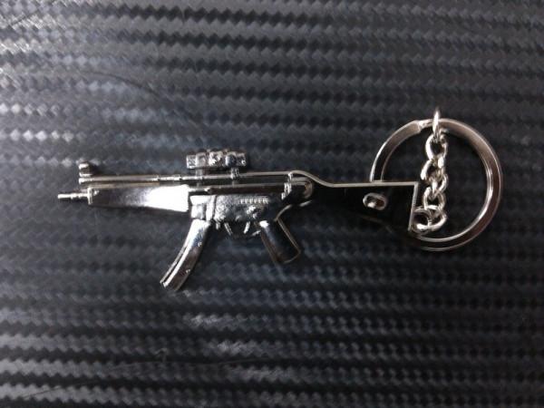 Porta Chaves - Arma MP5 Prateada