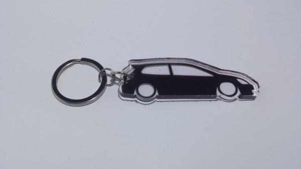 Porta Chaves de Acrílico com silhueta de Honda Civic EP3