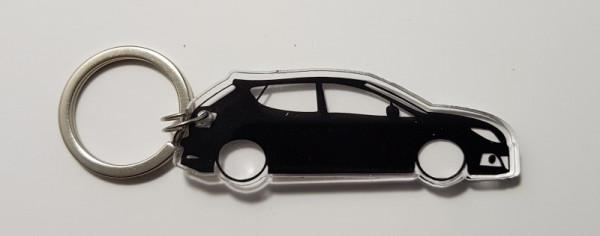 Porta Chaves de Acrílico com silhueta de Seat Ibiza 6J