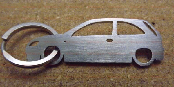 Porta Chaves de inox com silhueta de Opel Corsa C