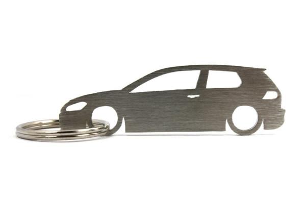 Porta Chaves em inox com silhueta com Volkswagen Golf MK7 3P