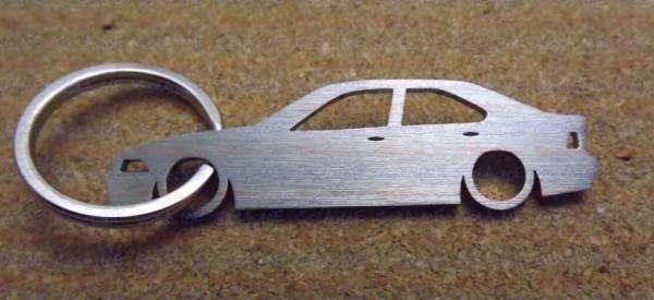 Porta Chaves em inox com silhueta da Bmw E36 4 Portas