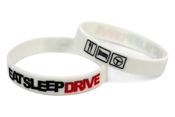 Pulseira-  EAT SLEEP DRIVE Branco