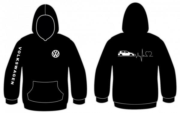 Imagens Sweatshirt com capuz para VW GOLF VI 5portas -  Batimentos