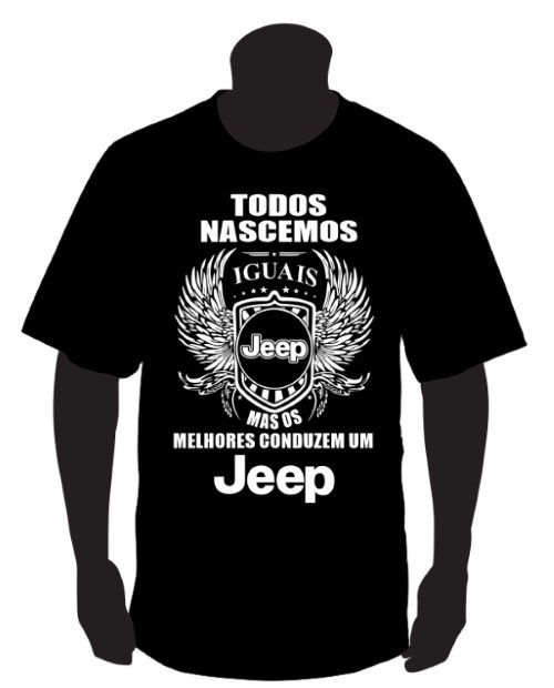 Imagens T-shirt com Todos Nascemos Iguais (Jeep)