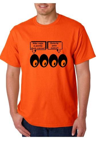 Imagens T-shirt  - Não Vejo  A Ponta de Um Corno Guia Te Pelo Outro