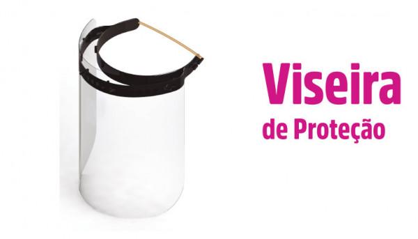 Imagens Viseira de protecção contra gotículas.