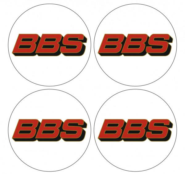 4 Autocolantes Para Centros de Jantes com BBS