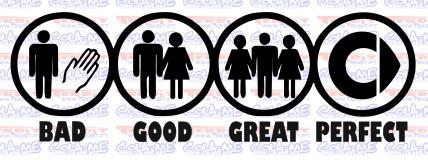 Autocolante - BAD GOOD GREAT PERFECT - SMART