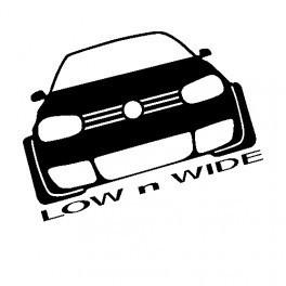 Autocolante com Low And Wide