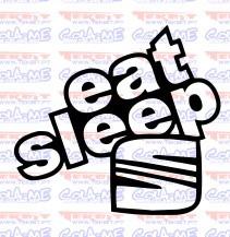 Imagens Autocolante - Eat Sleep Seat