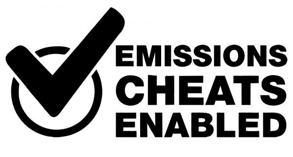Imagens Autocolante - Emissions Cheats Enabled