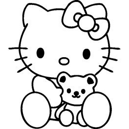 Autocolante - Hello Kitty Peluche