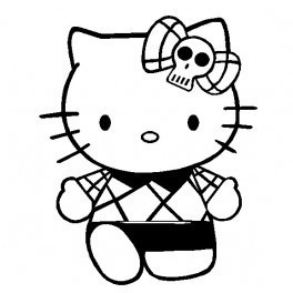 Autocolante - Hello Kitty Punk