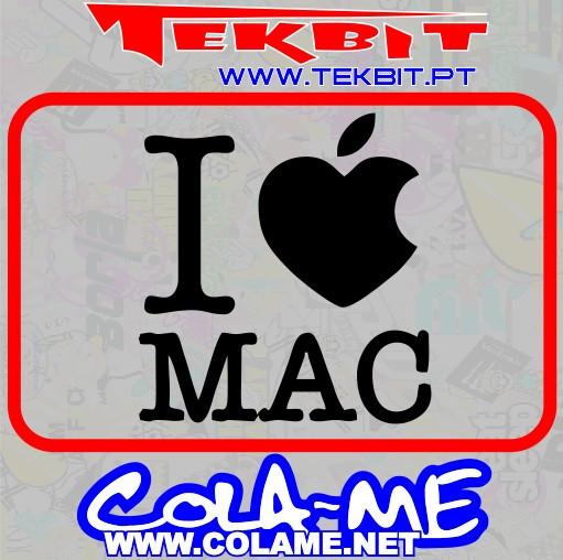 Autocolante - I love Mac