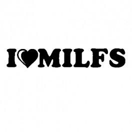 Imagens Autocolante - I love Milfs